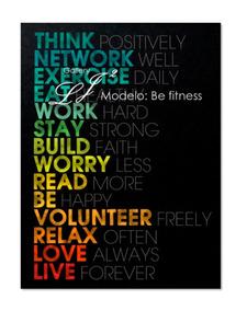 Cuadros De Frases Motivacionales Salud Ejercicio Bienestar