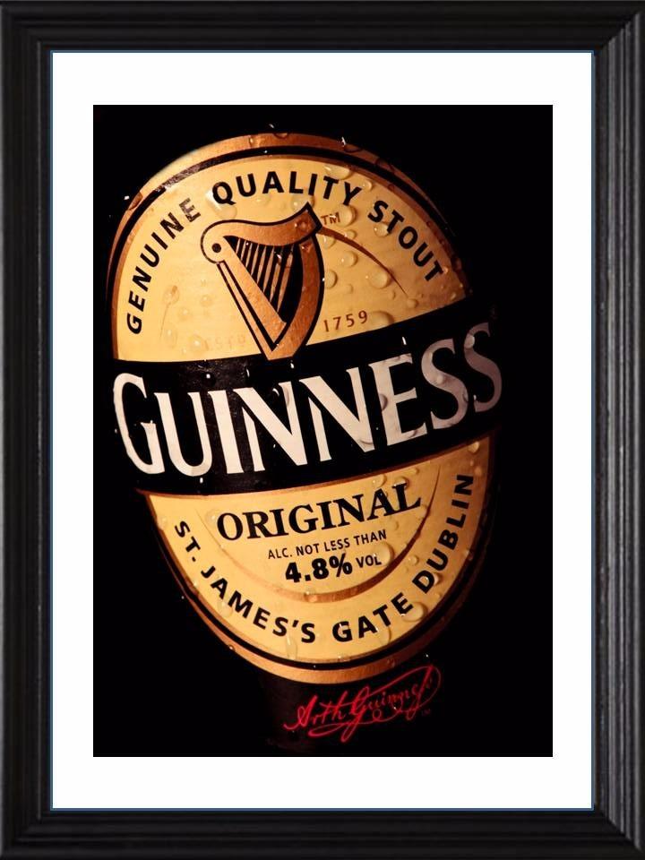 Cuadros De Guinness! Marco Madera+vidrio+foto! Deco Pub Bar - $ 549 ...