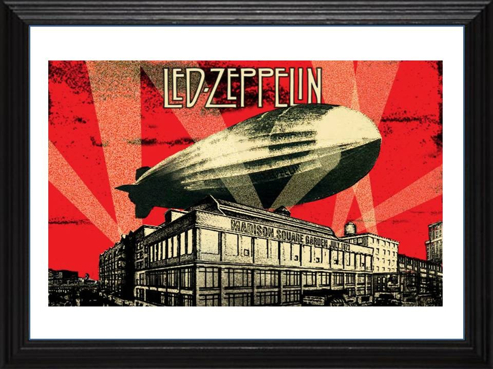 Cuadros De Led Zeppelin Marco Madera+vidrio+foto Deco Pub - $ 499,00 ...