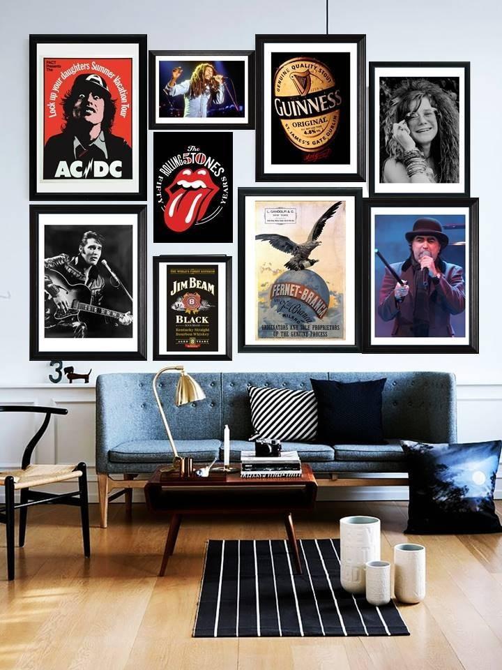 Cuadros De Led Zeppelin Marco Madera+vidrio+foto Deco Pub - $ 549,00 ...
