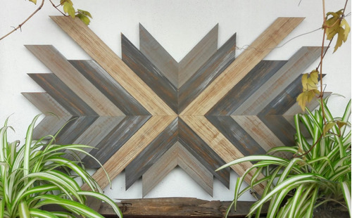 cuadros de madera- patinados- geometricos