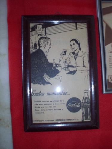 cuadros de madera,con vidrio, publicidades antiguas