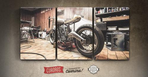 cuadros de motos impresos en cuerina 200x130cm