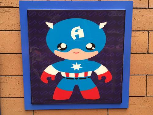 cuadros de superhéroes en resina
