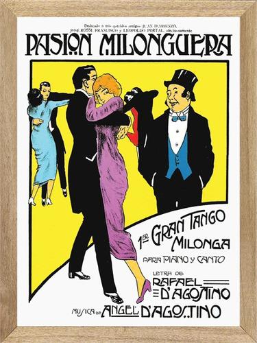 cuadros de tango partituras pasion milonguera  l783