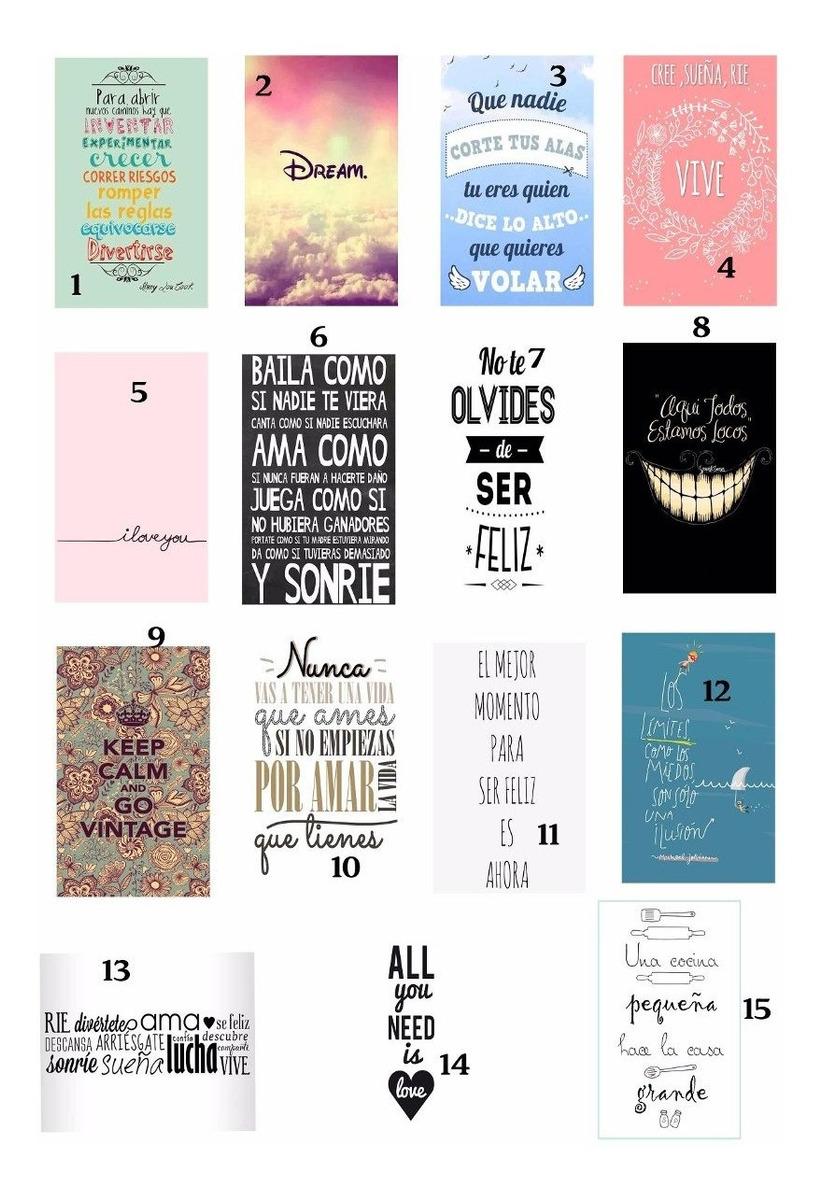 Cuadros Decoracion 10x15 Vintage Diseño Frases