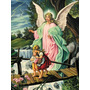 Impresión Lienzo Pintura Angel De La Guarda Arte Cuadros
