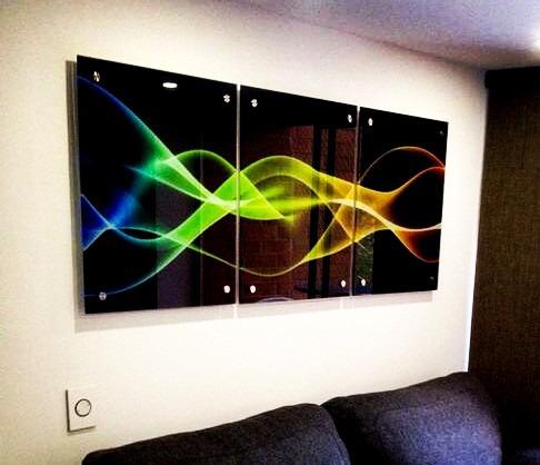 Cuadros decorativo en vidrio medida 140x60cm - Vidrio plastico para cuadros ...