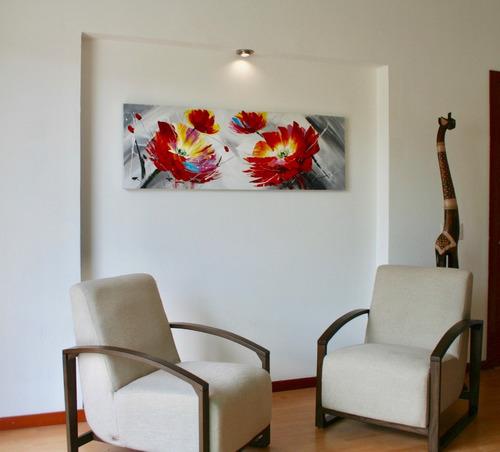 cuadros decorativo  moderno flores de pasion envio gratis !