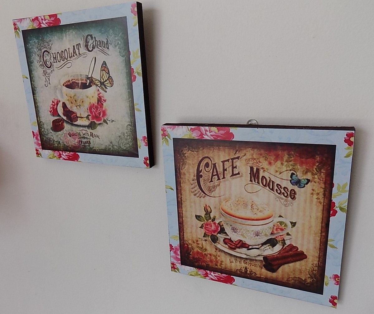Cuadros decorativo para cocina vintage 2 pz 20x20 - Cuadros vintage para salon ...