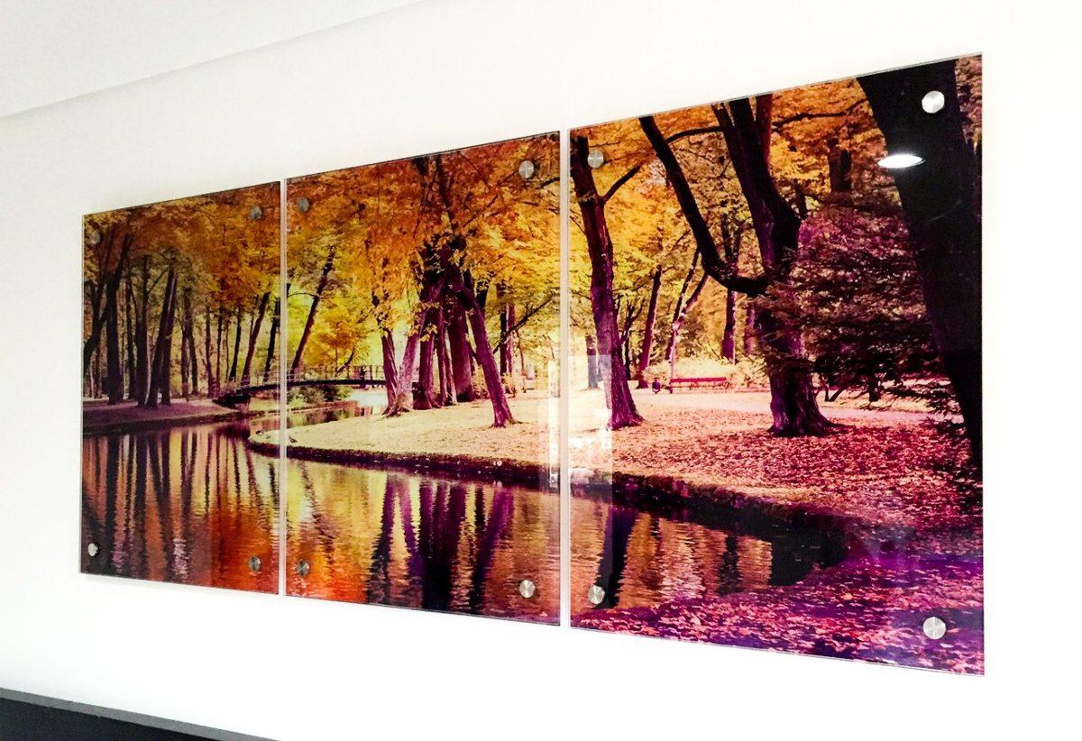 Cuadros decorativo triptico en vidrio medida 135x60cm 6mm - Vidrio plastico para cuadros ...