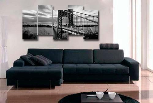 cuadros decorativos 5 secciones 153 x 70cms economicos