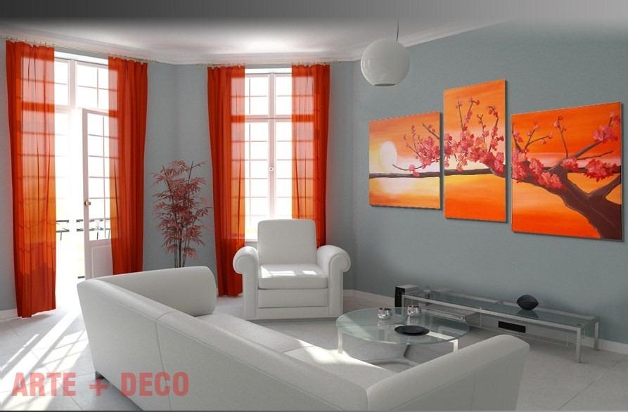 cuadros decorativos abstractos flores tripticos polipticos