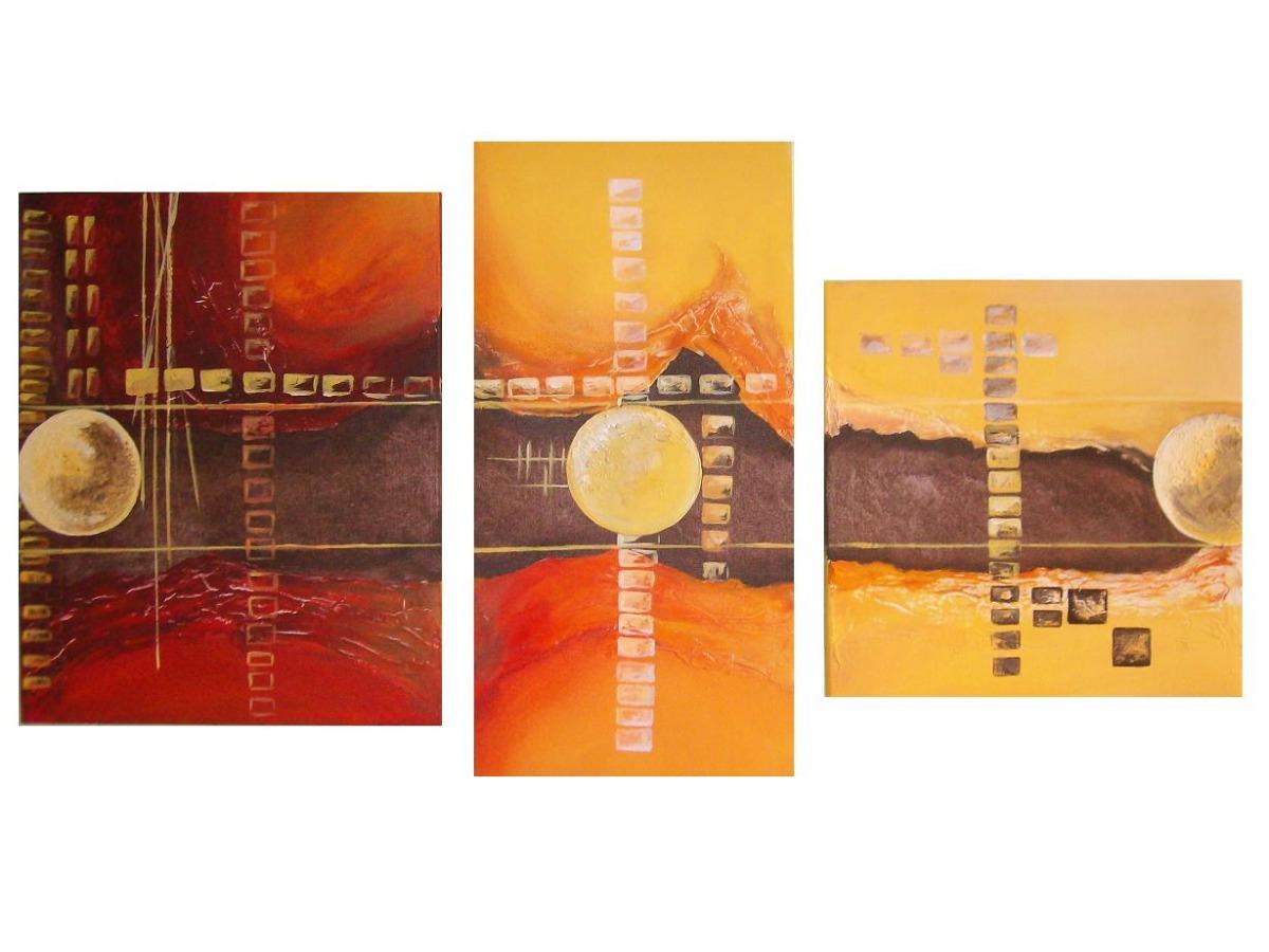 Photo collection cuadros abstractos tripticos decorativos - Cuadros tripticos ...