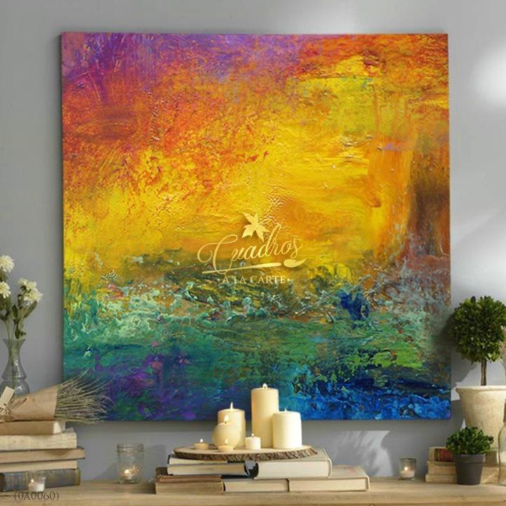 Cuadros decorativos al leo cuadros abstractos c060 - Lienzos decorativos ...
