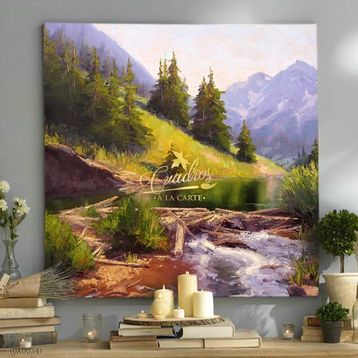 cuadros decorativos al leo cuadros paisajes c054