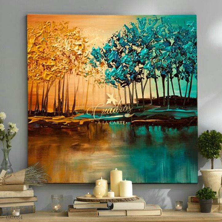 Cuadros decorativos al leo cuadros paisajes c084 for Cuadros al oleo para decorar salones