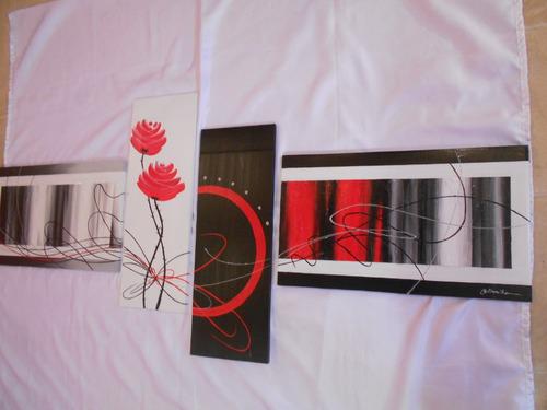 cuadros decorativos arte a mano polipticos tripticos moderno