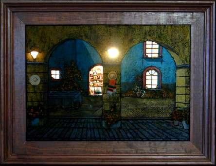 Cuadros decorativos arte rustico pintura artistica - Iluminacion para cuadros ...