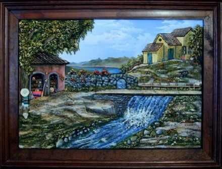 Cuadros decorativos arte rustico pintura artistica for Cuadros mexicanos rusticos