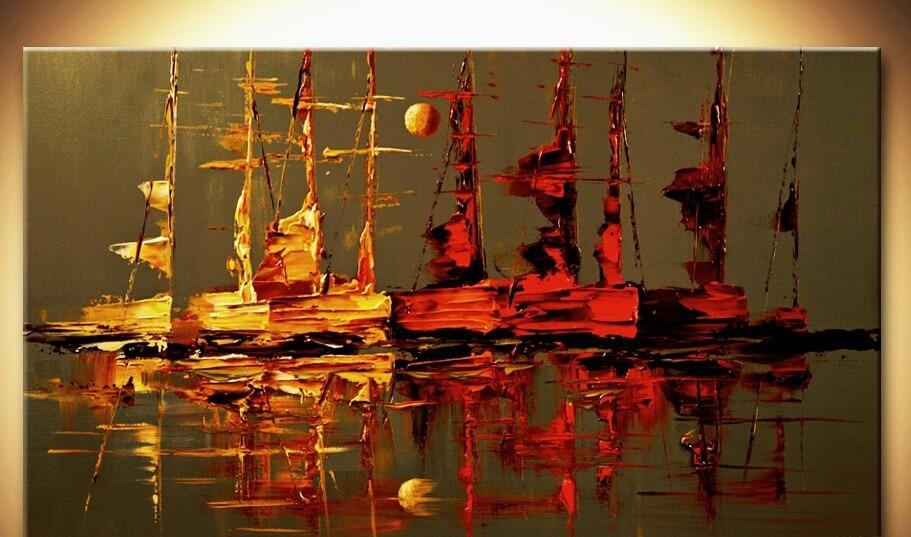 cuadros decorativos barcos