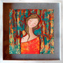 Arte Pintura Cuadro Lámina Mujer 32 X 32 Entrega 1 Semana