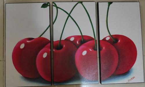 cuadros decorativos en tres piezas de 28 por 52