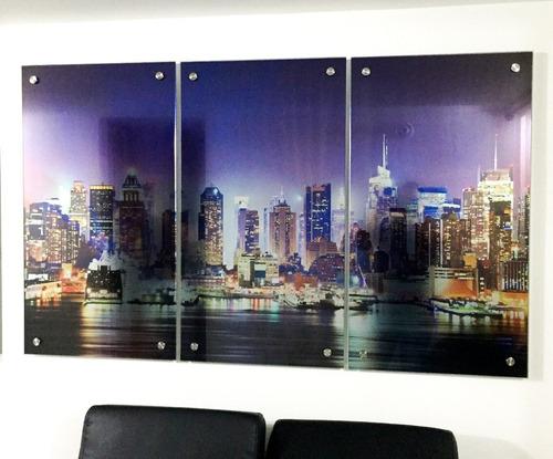 cuadros decorativos en vidrio desde $ 85.000 medida 50x70 a3
