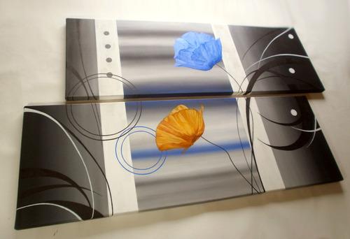 cuadros decorativos florales modernos abstractos minimalista