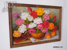 Cuadros Decorativos Flores Marco De Madera