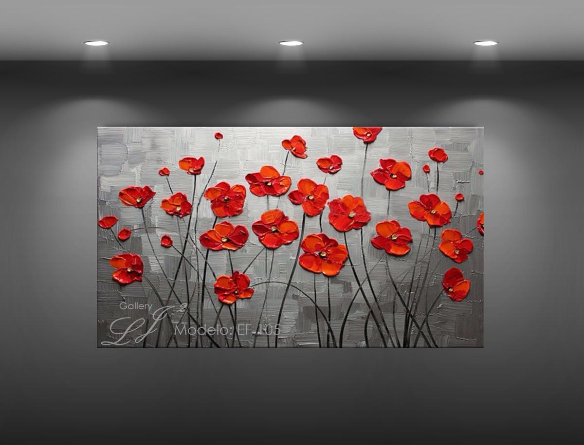 Cuadros decorativos flores leo con esp tula personalizado for Pared con cuadros