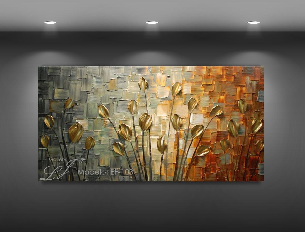 Cuadros decorativos flores leo con esp tula personalizado 2 en mercado libre - Como pintar un cuadro moderno ...