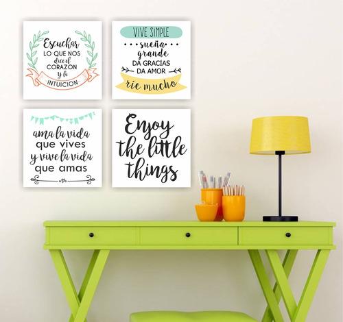 cuadros decorativos frases impresos vinilos 30x30 cm