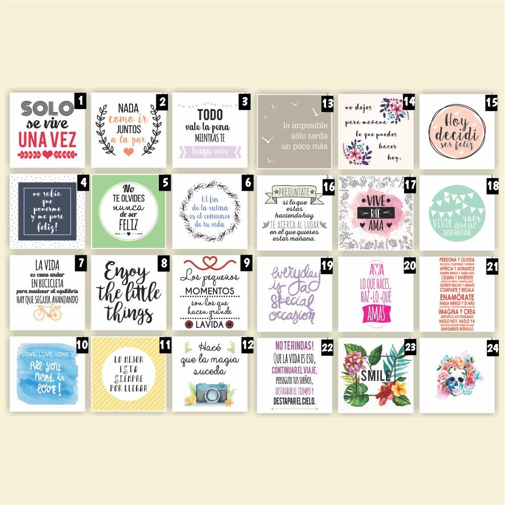 Cuadros Decorativos Frases Personalizados Vinilos 30x30 Cm