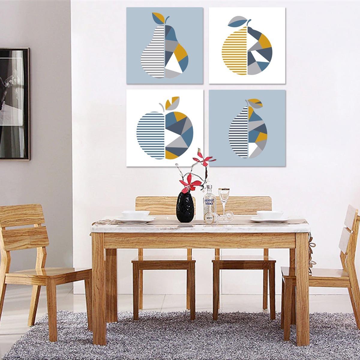 Cuadros Decorativos Frutas Minimalistas Para Comedor Canvas