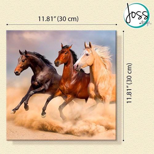 cuadros decorativos joss design caballos set de 2 pzs 60x60