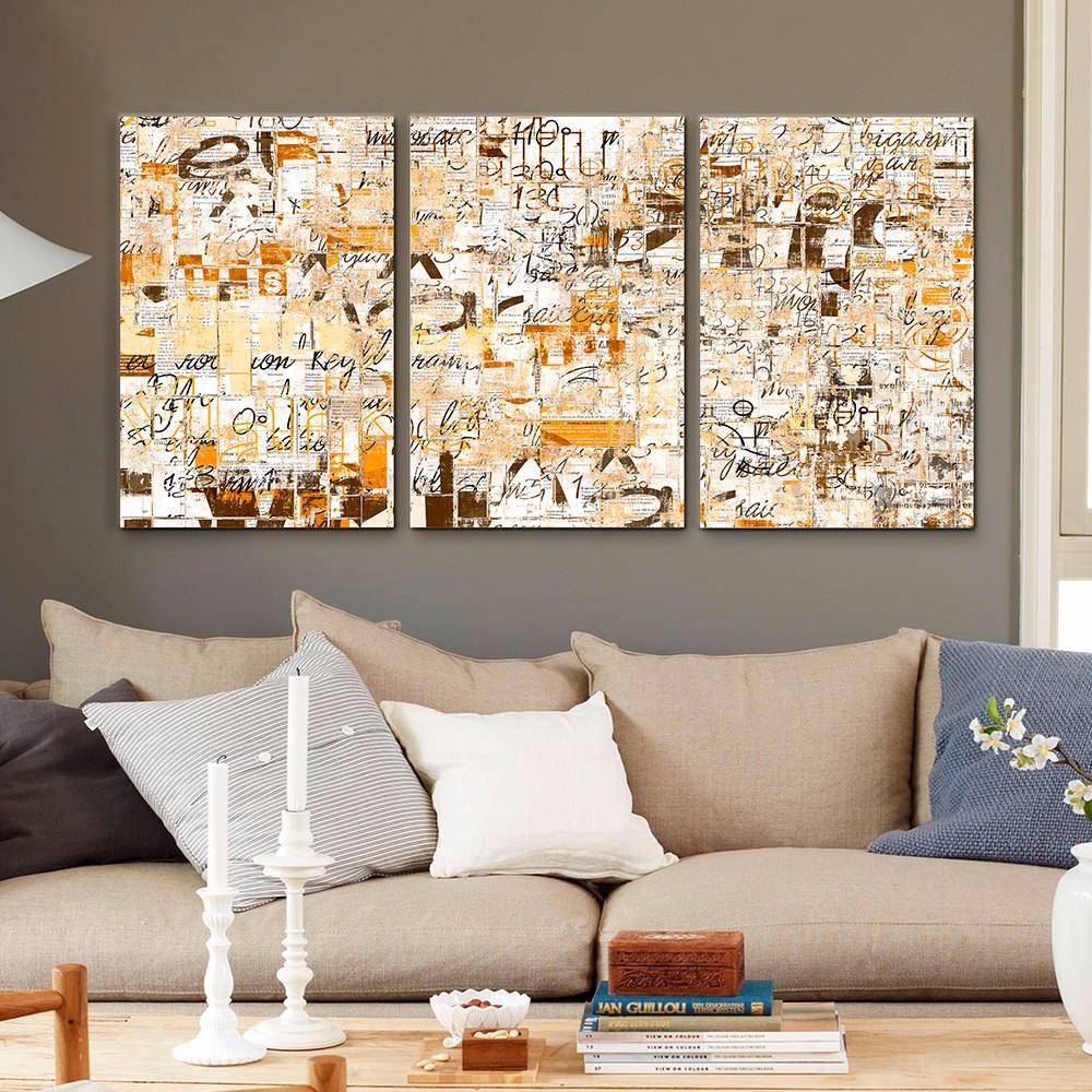 cuadros decorativos joss design letras set de 3 pzs 40x60