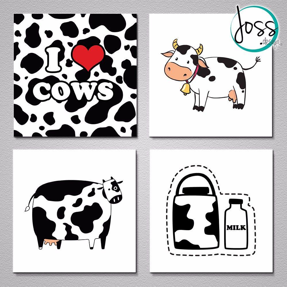 Cuadros decorativos joss design set de 9 vacas en mercado libre - Cuadros de vacas ...