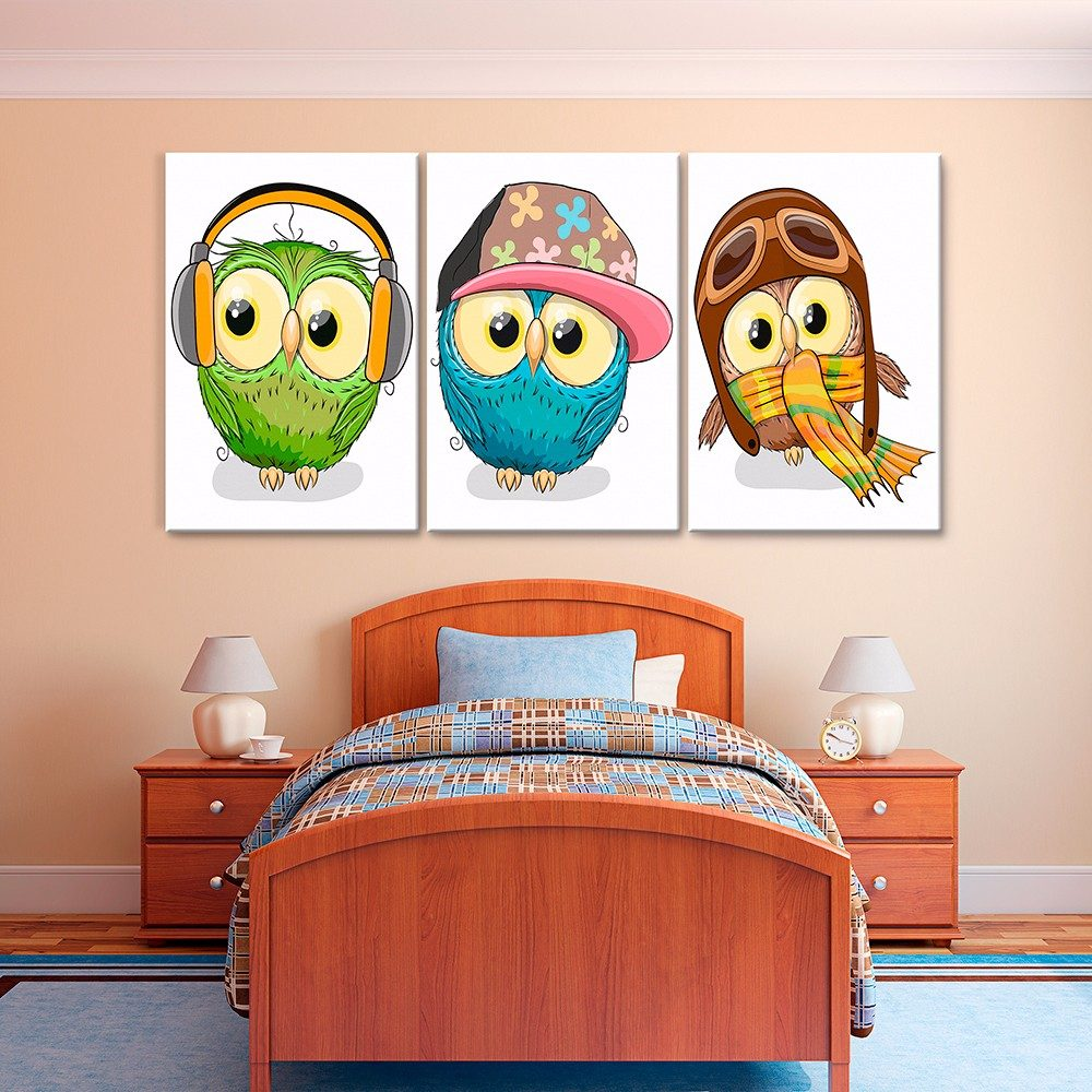 Cuadros decorativos jossdesign b hos set de 3 pzs 40x60 - Cuadros murales para pared ...