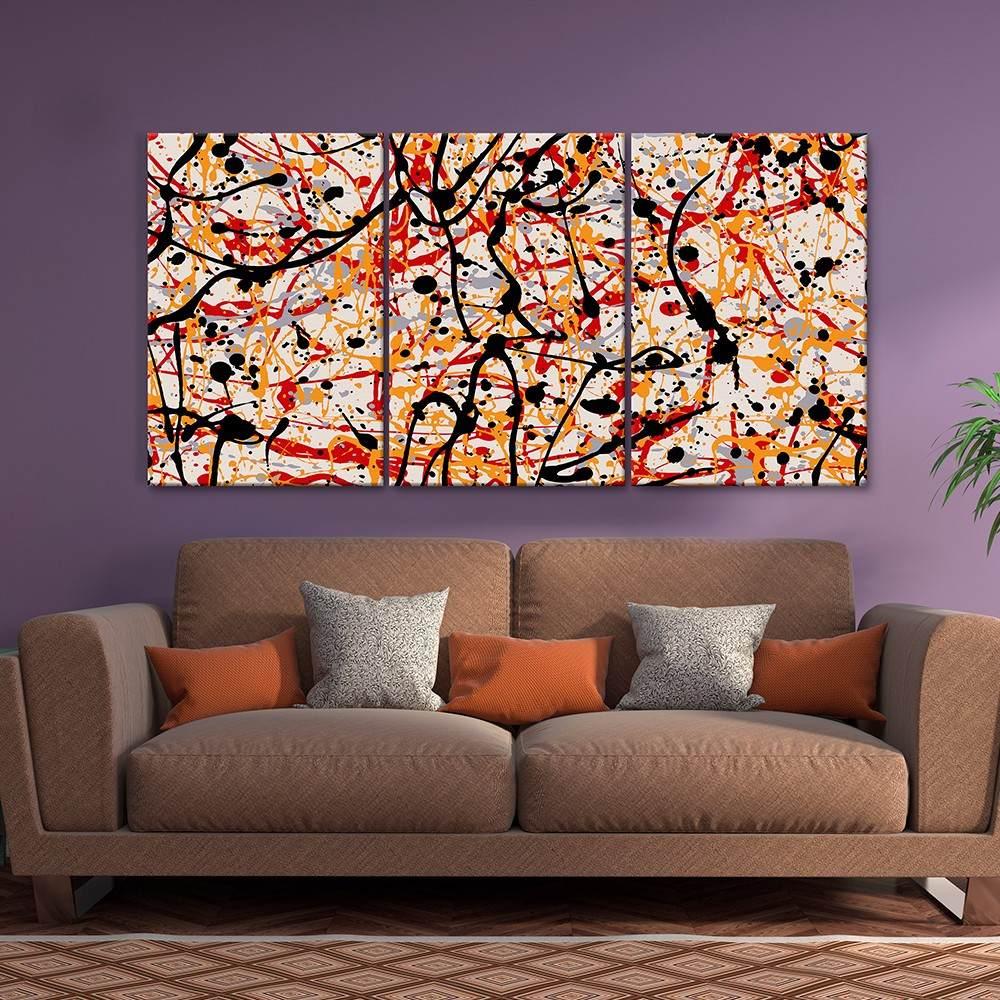 cuadros decorativos jossdesign jackson set de 3 pzs 40x60