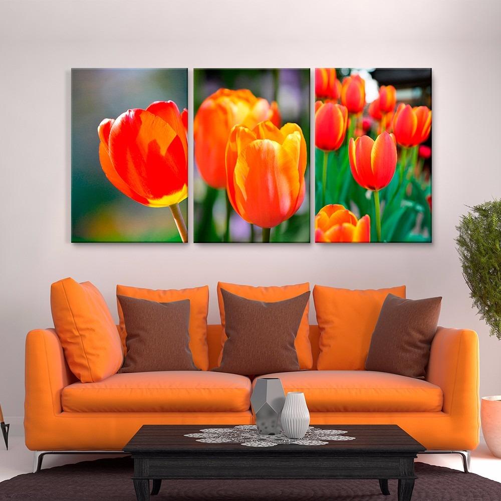 Cuadros Decorativos Jossdesign Tulipanes Col Setde3pzs