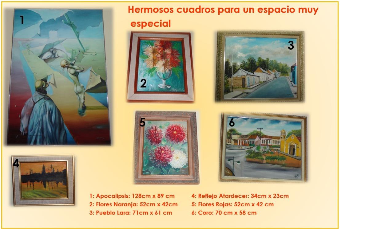 Cuadros Decorativos (lienzo, Oleo Y Marco) - Bs. 0,70 en Mercado Libre