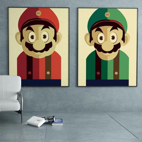 cuadros decorativos mario bross pop art mdf