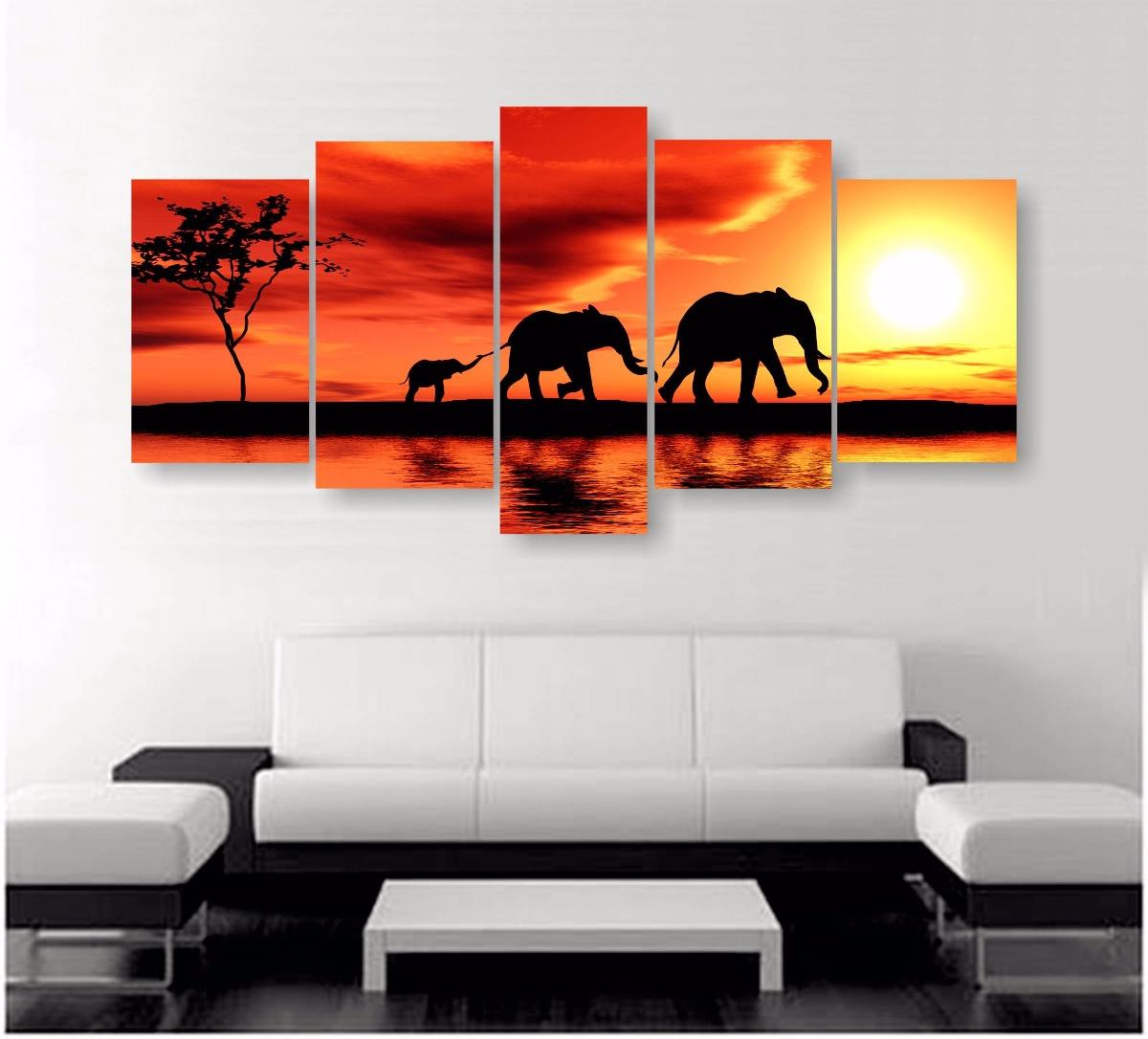 Cuadros decorativos moderno de 5 secciones 170x80cm for Imagenes de cuadros modernos