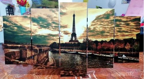 cuadros decorativos moderno de 5 secciones de 90x44 cm