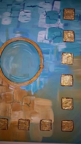 cuadros decorativos modernos abstractos con relieve