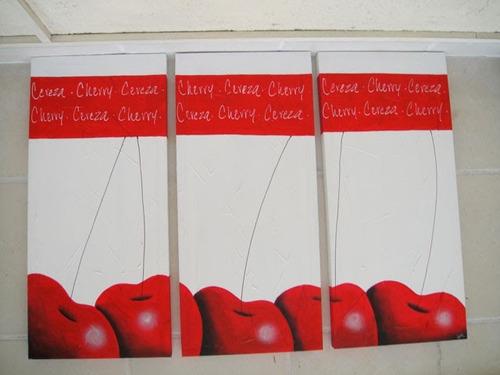 cuadros decorativos modernos abstractos para comedor frutas