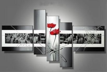 cuadros decorativos modernos abstractos flores