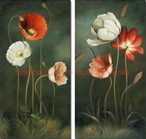 Cuadros Decorativos Modernos De Flores Pintados A Mano 6 500 00