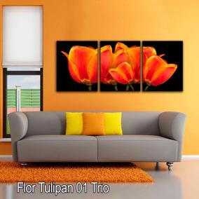 Cuadros Decorativos Modernos Para Salas Flortulipane Triptic